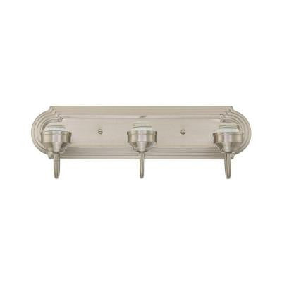 3-Light Brushed Nickel Wall Fixture