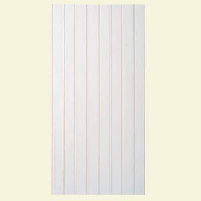 Supreme Wainscot 1/4 in. x 16 in. x 32 in. White HDF Tongue and Groove Wainscot Bead Board Panel (6-Pack)