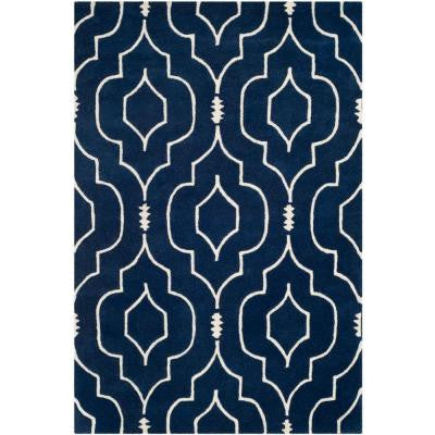 Chatham Dark Blue/Ivory 4 ft. x 6 ft. Area Rug
