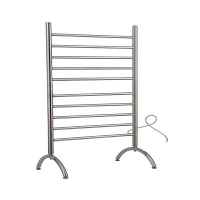 Solo 33 in. Freestanding 33 in. W x 38 in. H 10-Bar Electric Towel Warmer in Polished Stainless Steel