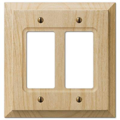 2 Decora Wall Plate - Un-Finished Wood