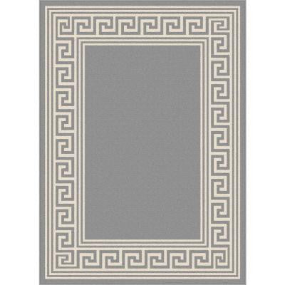 Garden City Gray 7 ft. 10 in. x 10 ft. 3 in. Transitional Area Rug