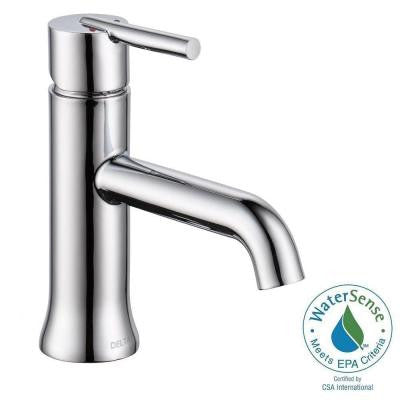 Trinsic Single Hole Single-Handle Bathroom Faucet in Chrome - Less Pop-Up