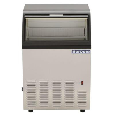 120 lb. Commercial Ice Maker in Stainless Steel