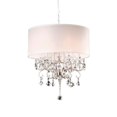 Crystal Silver Chandelier