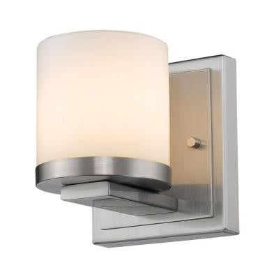 Kariya 1-Light Brushed Nickel Sconce