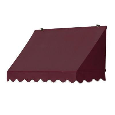 4 ft. Traditional Manually Retractable Awning (26.5 in. Projection) in Burgundy