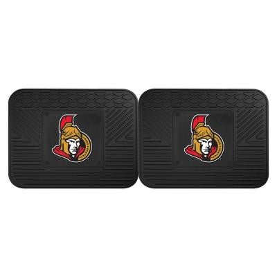NHL Ottawa Senators Black Heavy Duty 14 in. x 17 in. 2-Piece Vinyl Utility Mat