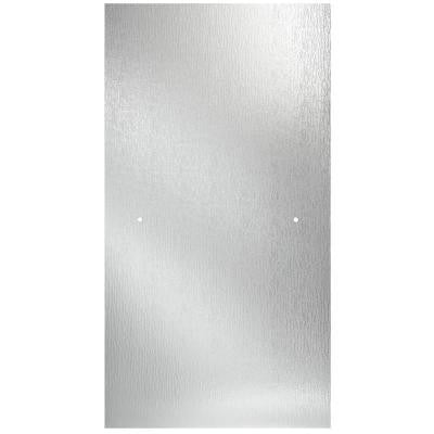 30 in. x 63 in. Pivot Shower Door Glass Panel in Rain