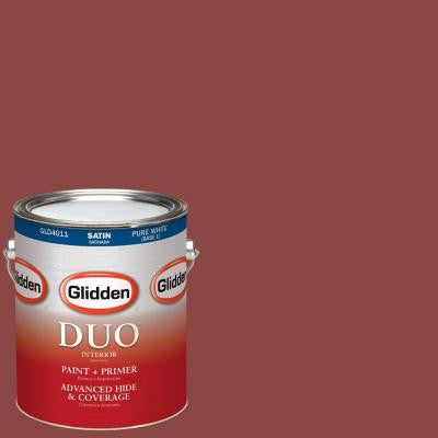 1-gal. #HDGR64 Rusty Red Satin Latex Interior Paint with Primer