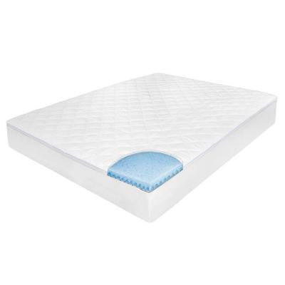 Euro Top Cal King Size Mattress Pad with Memory Foam