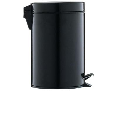 0.75 gal. Black Step-On Touchless Trash Can