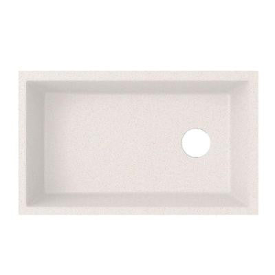 Undermount Granite 21 in. Single Bowl Kitchen Sink in Bianca