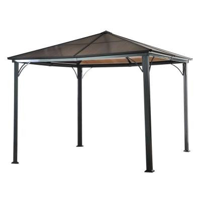 Birmingham 10 ft. x 10 ft. Polycarbonate Top Gazebo