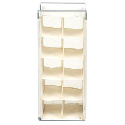 10-Pair Hanging Shoe Rack in Natural