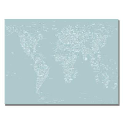 30 in. x 47 in. Font World Map V Canvas Art