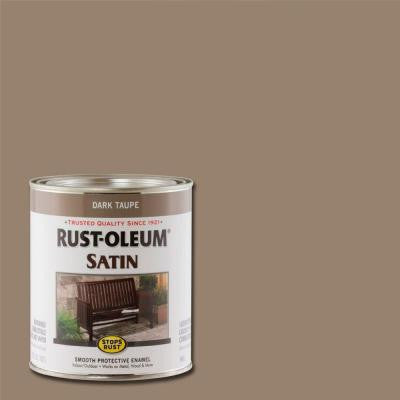 1-qt. Dark Taupe Satin Protective Enamel Paint (Case of 2)