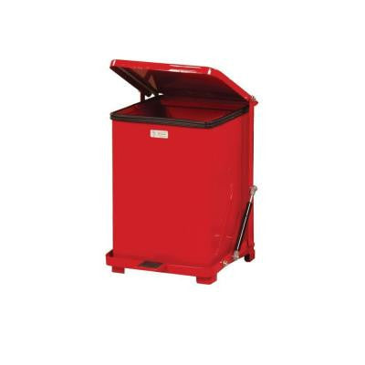 Defenders 7 Gal. Red Step-On Trash Can