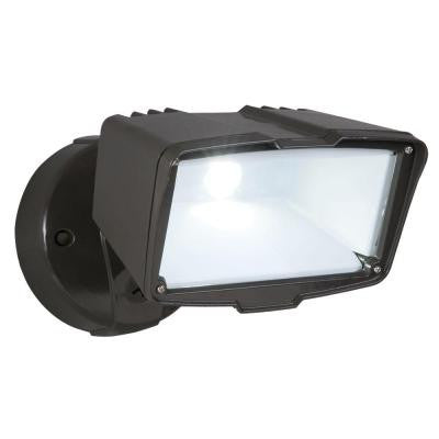 Bronze Outdoor LED Large Single Head Floodlight