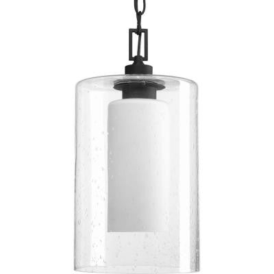 Compel Collection 1-Light Black Outdoor Hanging Lantern