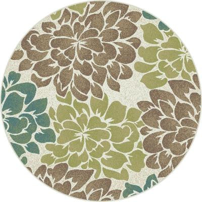 Deco Ivory 7 ft. 10 in. Transitional Round Area Rug