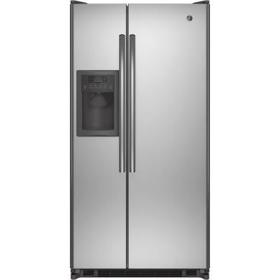 33.5 in. W 21.8 cu. ft. Side By Side Refrigerator in Stainless Steel