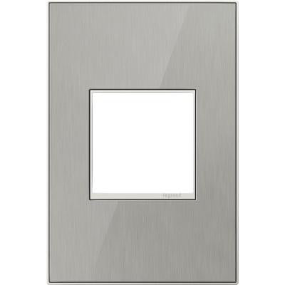 1-Gang 2 Module Wall Plate - Brushed Stainless