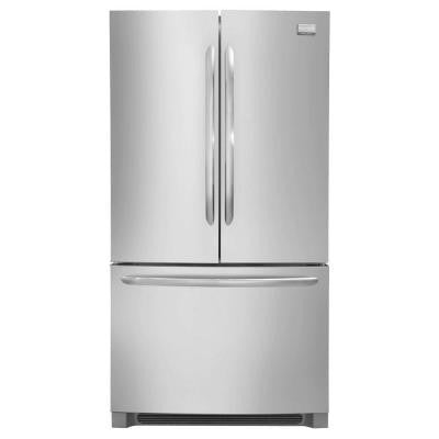 Gallery 22.37 cu. ft. Non-Dispenser French Door Refrigerator in Stainless Steel, Counter Depth
