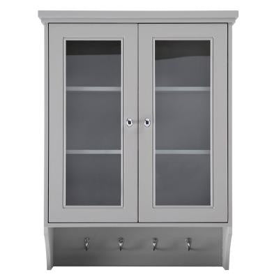 Gazette 23-1/2 in. W x 31 in. H Wall Cabinet in Grey