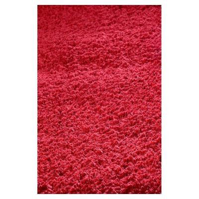 Cushy Shag Red 3 ft. 3 in. x 5 ft. 3 in. Area Rug