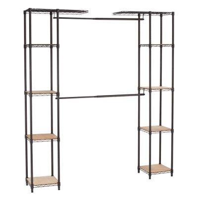 84 in. H Dark Bronze Expandable Closet Organizer