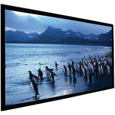120 in. Stratus Series Slate Gray Fixed-Frame Screen