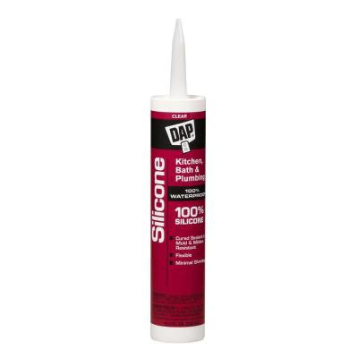 10.1 oz. Clear Kitchen and Bath 100% Silicone Rubber Sealant (12-Pack)