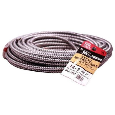 100 ft. 12-2 CU Armored Cable