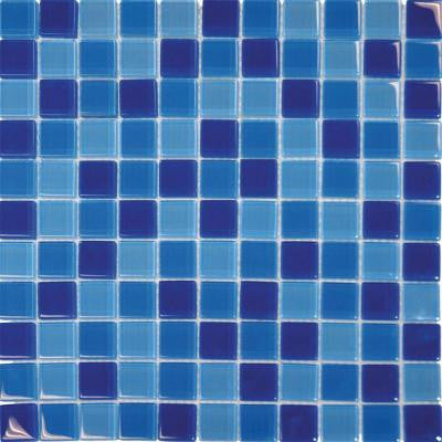 Blue Blend 12 in. x 12 in. x 8 mm Glass Mesh-Mounted Mosaic Tile (10 sq. ft. / case)