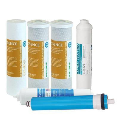 Essence Complete Replacement Filter Set for 75 GPD Reverse Osmosis pH Enhancing 6-Stages Replacement Filter