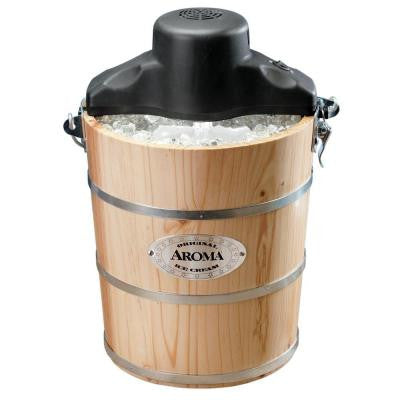 6 Qt. Wood Barrel Ice Cream Maker