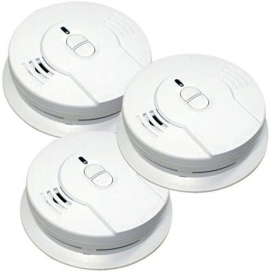 10-Year Lithium Ion Battery Operated Smoke Alarm (3-Pack)