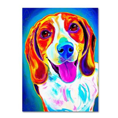 "47 in. x 35 in. ""Lucy"" by DawgArt Printed Canvas Wall Art"