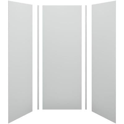 Choreograph 36 in. x 36 in. x 96 in. 5-Piece Shower Wall Surround in Ice Grey for 96 in. Showers