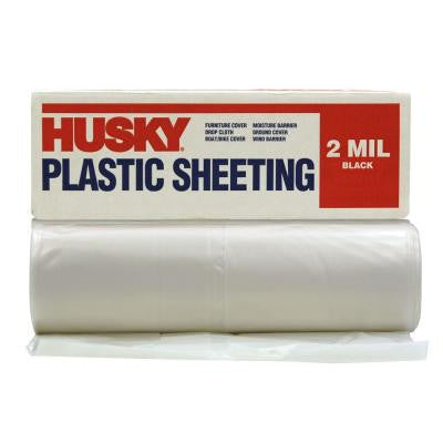 10 ft. x 100 ft. Clear 2 mil. Plastic Sheeting (Pallet of 126 rolls)