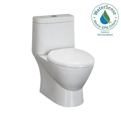 1-piece 1.6 GPF Round Toilet in White