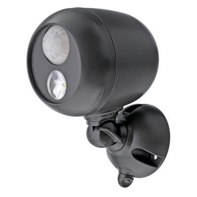 Outdoor Black Wireless Motion Sensing LED Spot Light