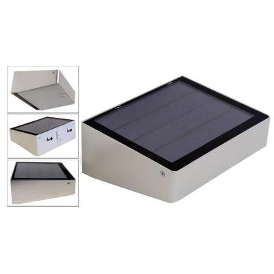 180° Solar Powered 53 LED Outdoor Compact Self-Contained for Entrances, Patios, Walkways, Dusk to Dawn Lighting