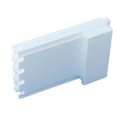 6 in. ICF End Piece 6 lbs. 14.5 in. W x 27 in. L. Insulated Concrete Form End Pieces for 12VWF6 ICFs (Box of 30)