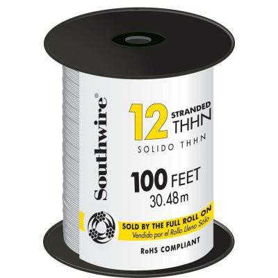 100 ft. 12 Stranded THHN Wire White