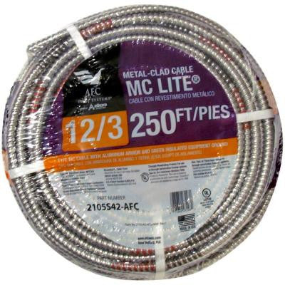 250 ft. 12-3 Solid MC Lite Cable