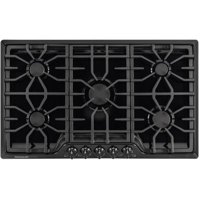 Gallery 36 in. Gas Cooktop in Black with 5 Burners