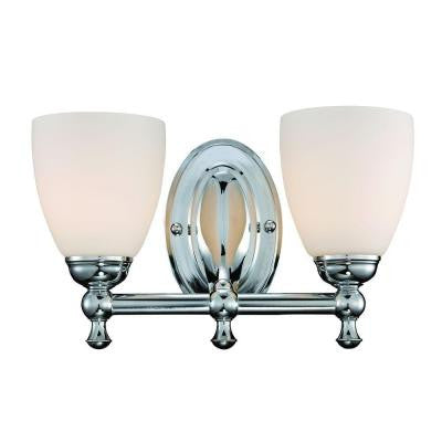 2-Light Polished Chrome Vanity Light