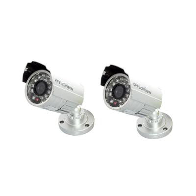 Wired 700TVL High Resolution Indoor/Outdoor Bullet Security Camera with Night Vision (2-Pack)